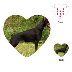 Doberman Pinscher Black Full Playing Cards (Heart)