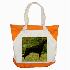 Doberman Pinscher Black Full Accent Tote Bag