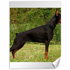 Doberman Pinscher Black Full Canvas 36  x 48