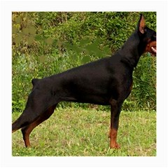 Doberman Pinscher Black Full Medium Glasses Cloth