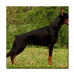 Doberman Pinscher Black Full Face Towel