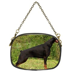 Doberman Pinscher Black Full Chain Purses (One Side)