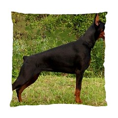 Doberman Pinscher Black Full Standard Cushion Case (Two Sides)