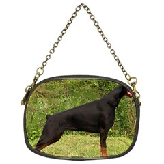 Doberman Pinscher Black Full Chain Purses (Two Sides)