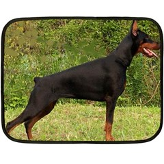 Doberman Pinscher Black Full Double Sided Fleece Blanket (Mini)