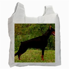 Doberman Pinscher Black Full Recycle Bag (Two Side)