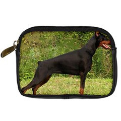 Doberman Pinscher Black Full Digital Camera Cases