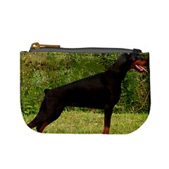 Doberman Pinscher Black Full Mini Coin Purses