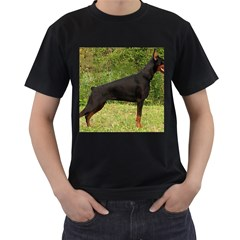 Doberman Pinscher Black Full Men s T-Shirt (Black)