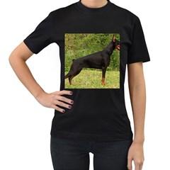 Doberman Pinscher Black Full Women s T-Shirt (Black)