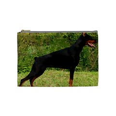 Doberman Pinscher Black Full Cosmetic Bag (Medium)