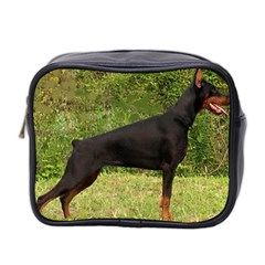 Doberman Pinscher Black Full Mini Toiletries Bag 2-Side