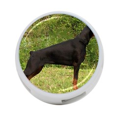 Doberman Pinscher Black Full 4-Port USB Hub (Two Sides)