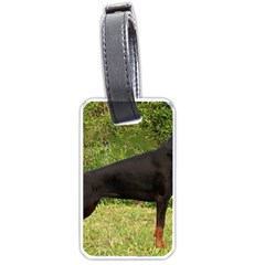 Doberman Pinscher Black Full Luggage Tags (One Side)