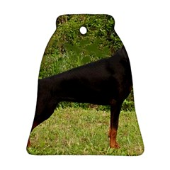 Doberman Pinscher Black Full Bell Ornament (Two Sides)