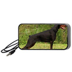 Doberman Pinscher Black Full Portable Speaker (Black)