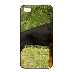 Doberman Pinscher Black Full Apple iPhone 4/4s Seamless Case (Black)