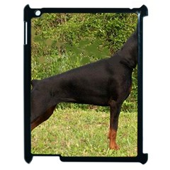 Doberman Pinscher Black Full Apple iPad 2 Case (Black)