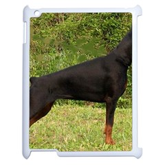 Doberman Pinscher Black Full Apple iPad 2 Case (White)