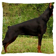 Doberman Pinscher Black Full Large Cushion Case (Two Sides)