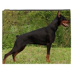 Doberman Pinscher Black Full Cosmetic Bag (XXXL)