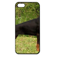 Doberman Pinscher Black Full Apple iPhone 5 Seamless Case (Black)