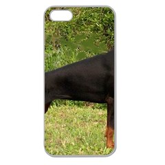 Doberman Pinscher Black Full Apple Seamless iPhone 5 Case (Clear)