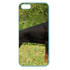 Doberman Pinscher Black Full Apple Seamless iPhone 5 Case (Color)