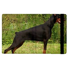 Doberman Pinscher Black Full Apple iPad 3/4 Flip Case