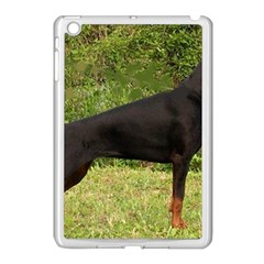 Doberman Pinscher Black Full Apple iPad Mini Case (White)