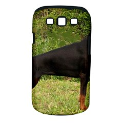 Doberman Pinscher Black Full Samsung Galaxy S III Classic Hardshell Case (PC+Silicone)