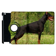 Doberman Pinscher Black Full Apple iPad 3/4 Flip 360 Case
