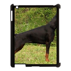 Doberman Pinscher Black Full Apple iPad 3/4 Case (Black)