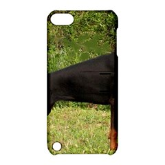 Doberman Pinscher Black Full Apple iPod Touch 5 Hardshell Case with Stand