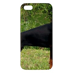 Doberman Pinscher Black Full Apple iPhone 5 Premium Hardshell Case