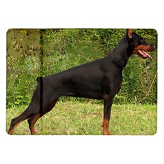 Doberman Pinscher Black Full Samsung Galaxy Tab 10.1  P7500 Flip Case