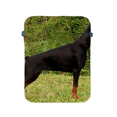 Doberman Pinscher Black Full Apple iPad 2/3/4 Protective Soft Cases