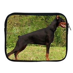 Doberman Pinscher Black Full Apple iPad 2/3/4 Zipper Cases