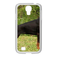 Doberman Pinscher Black Full Samsung GALAXY S4 I9500/ I9505 Case (White)
