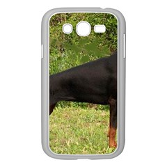 Doberman Pinscher Black Full Samsung Galaxy Grand DUOS I9082 Case (White)