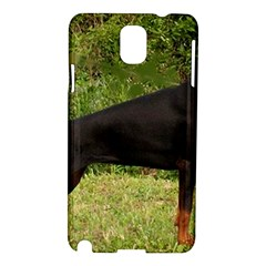 Doberman Pinscher Black Full Samsung Galaxy Note 3 N9005 Hardshell Case