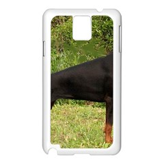 Doberman Pinscher Black Full Samsung Galaxy Note 3 N9005 Case (White)