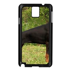 Doberman Pinscher Black Full Samsung Galaxy Note 3 N9005 Case (Black)
