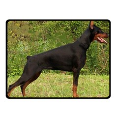 Doberman Pinscher Black Full Double Sided Fleece Blanket (Small)