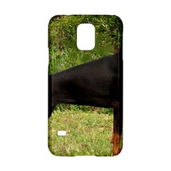 Doberman Pinscher Black Full Samsung Galaxy S5 Hardshell Case