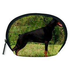 Doberman Pinscher Black Full Accessory Pouches (Medium)