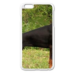 Doberman Pinscher Black Full Apple iPhone 6 Plus/6S Plus Enamel White Case