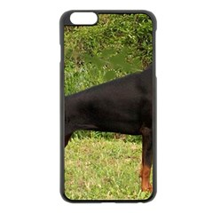 Doberman Pinscher Black Full Apple iPhone 6 Plus/6S Plus Black Enamel Case