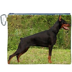 Doberman Pinscher Black Full Canvas Cosmetic Bag (XXXL)