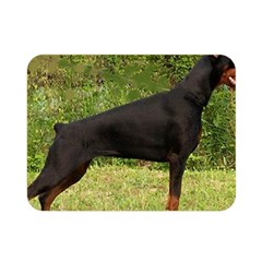 Doberman Pinscher Black Full Double Sided Flano Blanket (Mini)